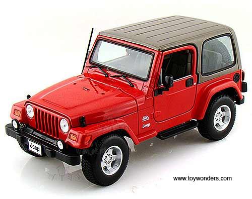 bburago gold jeep wrangler sahara hard top 1 18 scale diecast model car red 12014r. Black Bedroom Furniture Sets. Home Design Ideas