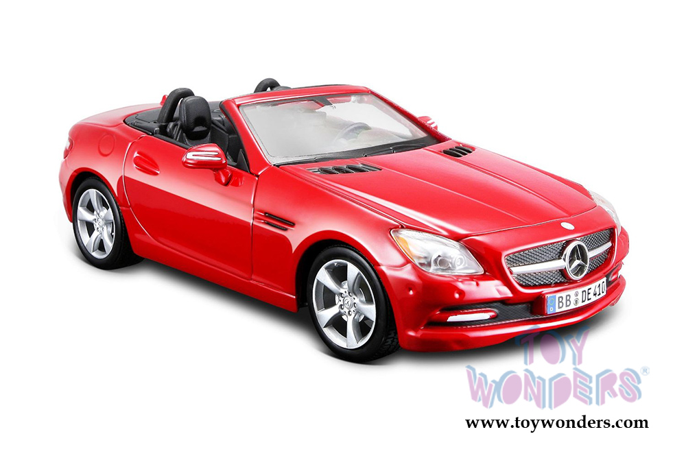2011 mercedes benz slk convertible 31206r 1 24 scale for Mercedes benz toy car models