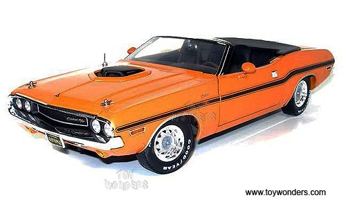 1970 dodge challenger convertible by greenlight muscle car for Garage ford orange