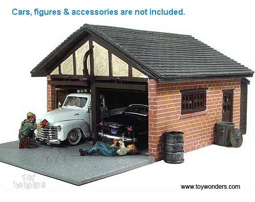 American diorama buildings double garage building 1 24 for American garage builders