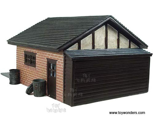 Diecast collectibles american diorama buildings double for American garage builders