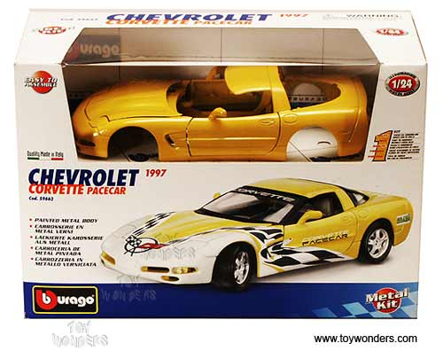 1997 Chevrolet Corvette Pacecar Hard Top By Bburago Kit 1